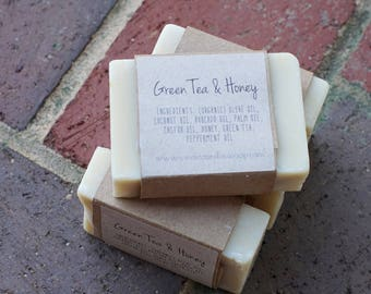 Green Tea & Honey Handmade Soap -Organic