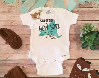 New York Onesie®, Unique Baby Gift, Grandma Onesie, State Onesie, Someone in Loves Me, California Onesie, Aunt Onesie, Fun Baby Shower Gift