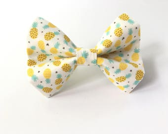 Pineapple Bow tie, Dog Bowtie, Dog Bow Tie, Dog Collar Bow Tie, Dog Bow Tie, Collar bow tie, bow tie for collar, bow tie for collar, sewn