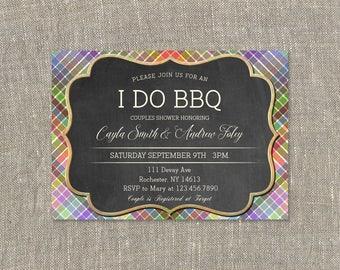 I Do BBQ Invitation,Couple's Shower,I Do BBQ Shower Invitation,I Do Barbecue Invitation,Bridal Wedding
