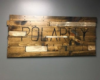 Customized Distressed Wood Art Wall Art