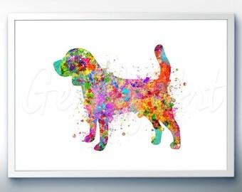 Beagle Watercolor Art Print [2]  - Home Living - Animal Painting - Dog Poster - Wall Decor - Home Decor - House Warming Gift