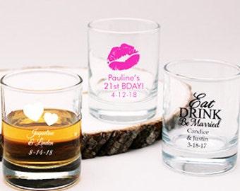 24 pcs Personalized Wedding Shot Glass Candle Holder Favor  (PPD-JM218773)