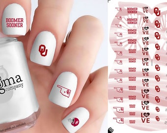 Oklahoma Sooners Nail Decals (Set of 71)