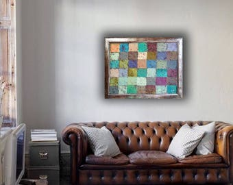 Original MENDOZA Cubist Abstract modern contemporary painting art