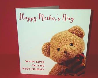 Teddy Mother's Day Card