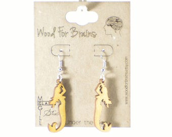 """Laser Cut Wooden Earrings - """"Under the Sea"""""""