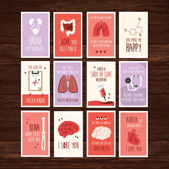 Funny Nurse Valentines Day Card Full Set Download 12 – Great Valentines Cards