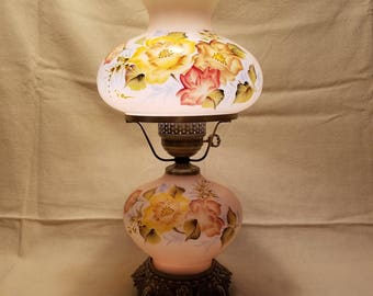 Vintage Gone With The Wind Lamp Hurricane Lamp