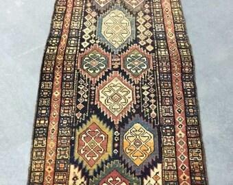 Vintage Tribal Handwoven Runner Rug