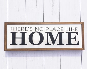 There's no place like home | Wood Sign | Wall Art