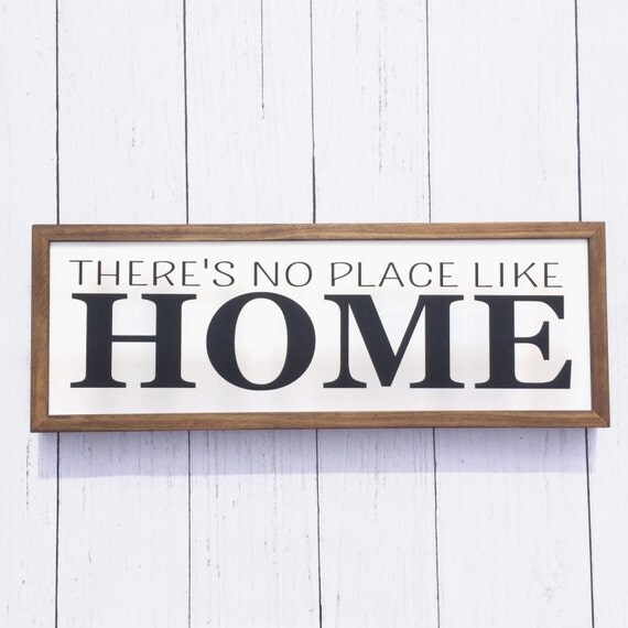 There's no place like home Wood Sign Wall Art
