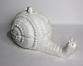 Large Ceramic Snail Tureen