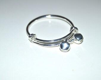 Baby Bangle - Baby Silver Adjustable Bracelet - Toddler Bracelet - Silver Bangle - Adjustable Baby Bracelet - Baby Bangle