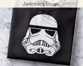 INSTANT DOWNLOAD Storm Trooper Star Wars Embroidery Design