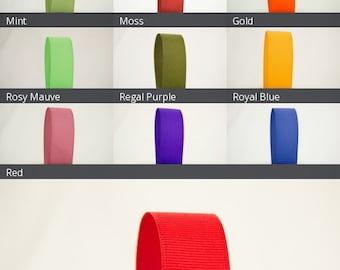 Ribbon Bazaar Solid Grosgrain Ribbon 7/8 inch By the Yard 100% Polyester