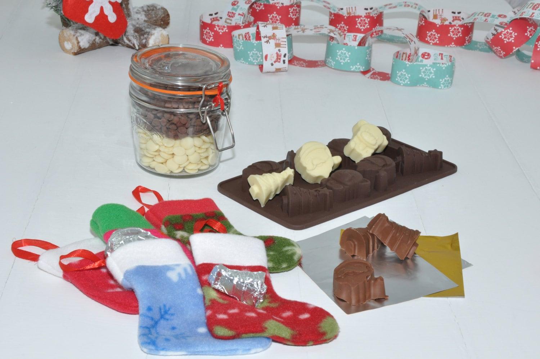 Christmas tree chocolate making kit, make your own Xmas tree chocs ...