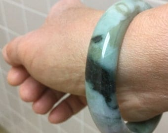 "56mm ""Camouflaged"" Jade Bangle"