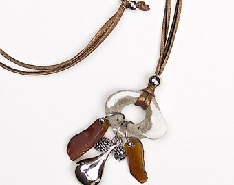 Sea glass necklace «Cosair»