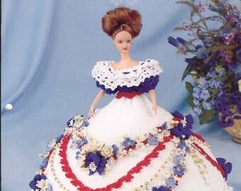 216. Barbie fashion doll dress-crochet pattern in pdf