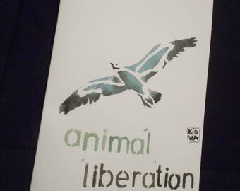 Postcard Animal liberation Seagull
