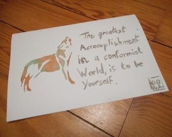 Original postcard Free wolf