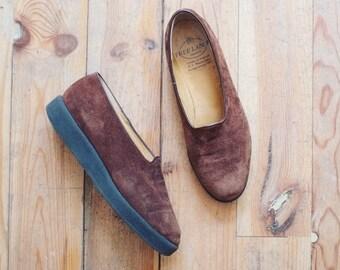 Vintage freelance suede shoes slip ons flats eu 37