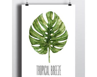 Tropical Breeze Palm Leaf Home Print