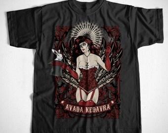 Avada Kedavra S-XXL T-Shirt many colors burlesque dancer magician Rockabilly