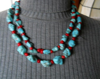 Turquoise Stone Necklace #934