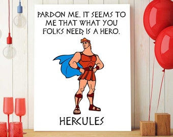 Disney Hercules Decor, Hercules Disney Printable, Hercules Quote, Printable Disney Nursery Wall Art, Party Decor