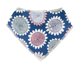 Baby Bandana Drool Bib - flowers