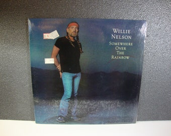 Willie Nelson 1981 Somewhere Over The Rainbow Vintage Country Music Vinyl LP CBS Records