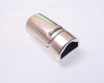 Antique Silver Magnetic Bracelet Clasp (ZM11551)