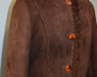 vintage 70s aleksanders norwegian shearling coat
