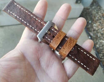 Luxury Ostrich Hide Watch Strap