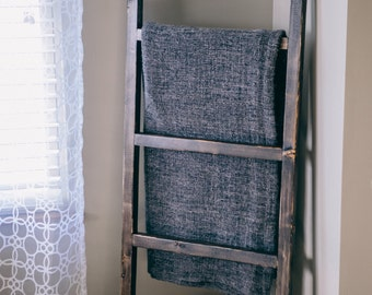 "Blanket Ladder 5ft Rustic Ladder - Decorative Towel Ladder - Farmhouse Ladder - 60""x20"" Ladder - Quilt Storage - Quilt Ladder - Chic Decor"