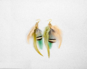 Hypoallergenic Silicone Colorful Feather Earrings