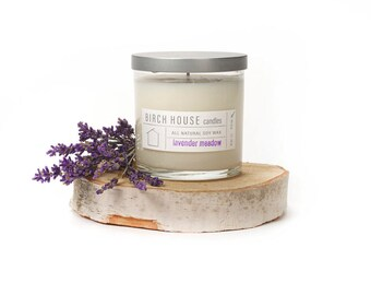 lavender candle, soy candle, spa candle, spa gift, glass container, best candle, birch theme, birchhousecandles, aromatherapy candle