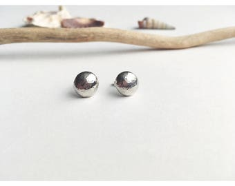 Full Moon studs, earrings, sterling silver, handmade, unique, moon, circle, beach, boho, women's accessories, gifts for her, handcrafted.