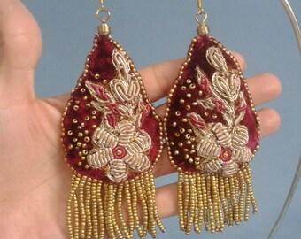 """Victorian style earrings """"Love in velvet"""""""
