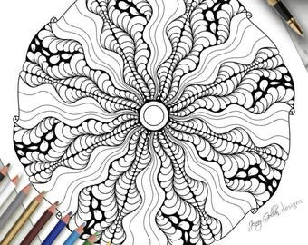 Printable Colouring Page Express Yourself