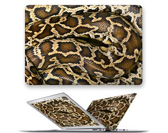 macbook air 13 hard case rubberized front hard cover for apple mac macbook air pro touch bar 11 12 13 15 snake