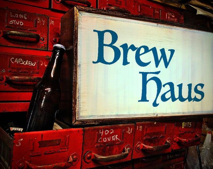 LED Custom Light Box Brew Haus Beer Sign