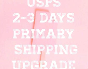 Upgrade to USPS 2-3 Days Primary Shipping