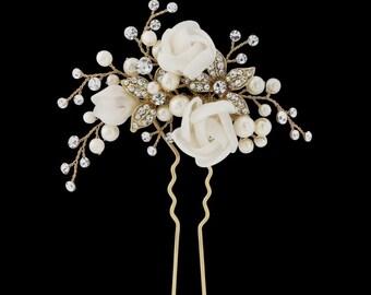 Luxury wedding hairpin, wedding hair, flower hairpins, wedding hair accessories, bride to be, bridesmaid hair, Wedding ideas