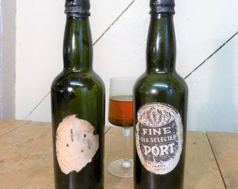 Pair of Vintage Port Bottles (empty) (stock #6208 & #6205)