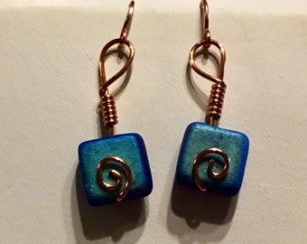 Glass Bead Earrings Wie Wrapped