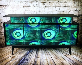 Industrial console hall table wood vintage metal pine sideboard rustic - Console Table Etsy