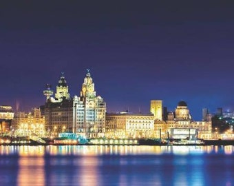 Liverpool Sky At Night wall art canvas .... various sizes available